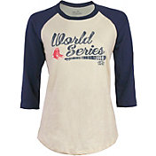 Majestic Threads Women's 2018 World Series Boston Red Sox Raglan Three-Quarter Sleeve Shirt