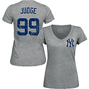 Product Image · Majestic Threads Women s New York Yankees Aaron Judge Grey  V-Neck T-Shirt 91490cd3cfc