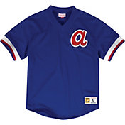 Mitchell & Ness Men's Replica Atlanta Braves Royal Cooperstown Jersey