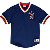 Mitchell & Ness Men's Replica Los Angeles Angels Navy Cooperstown Jersey