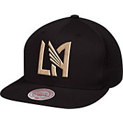 Mitchell & Ness Men's Los Angeles FC Perforated Fade Black Snapback Adjustable Hat