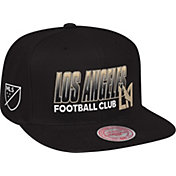 Mitchell & Ness Men's Los Angeles FC Score Keeper Black Snapback Adjustable Hat