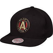 Mitchell & Ness Men's Atlanta United Script Black Snapback Adjustable Hat