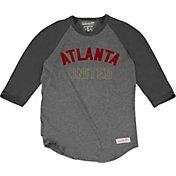 Mitchell & Ness Men's Atlanta United Raglan Grey Three-Quarter Sleeve Shirt