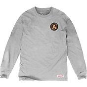 Mitchell & Ness Men's Atlanta United Logo Black Long Sleeve Shirt