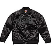 Mitchell & Ness Men's Philadelphia 76ers Black Satin Jacket