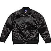 Mitchell & Ness Men's Golden State Warriors Black Satin Jacket