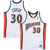 Mitchell & Ness Men's Golden State Warriors Stephen Curry #30 Hardwood Classics Swingman Jersey