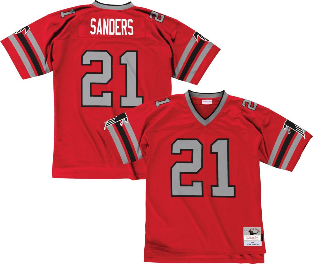 half off c5236 ec4e6 Mitchell & Ness Men's 1989 Home Game Jersey Atlanta Falcons Deion Sanders  #21