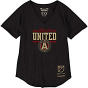 Mitchell & Ness Women's Atlanta United Spin Move Black V-Neck T-Shirt