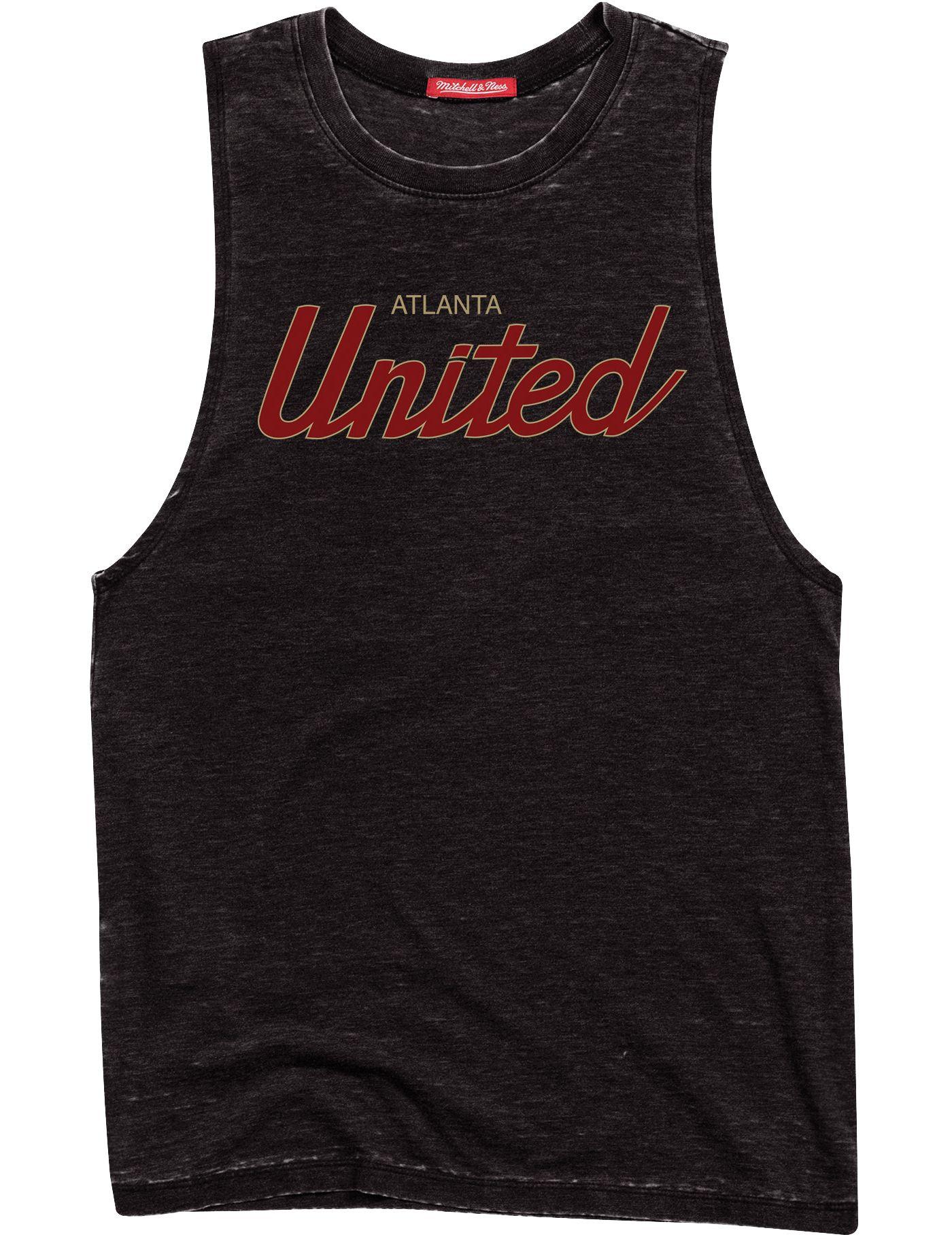 Mitchell & Ness Women's Atlanta United Script Black Muscle Tank Top