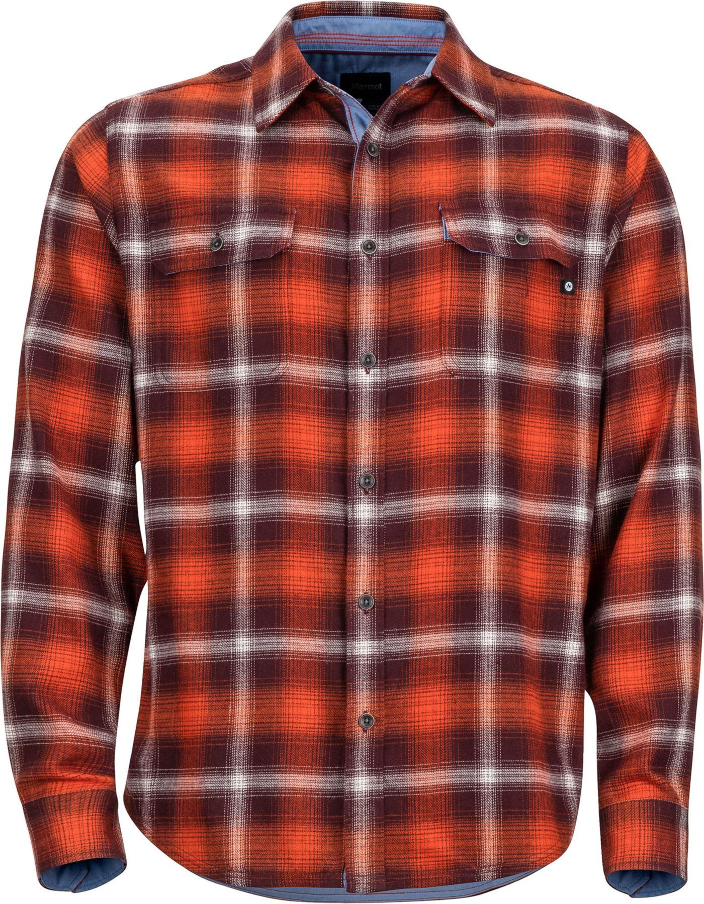 Marmot Men's Jasper Midweight Flannel Long Sleeve Shirt