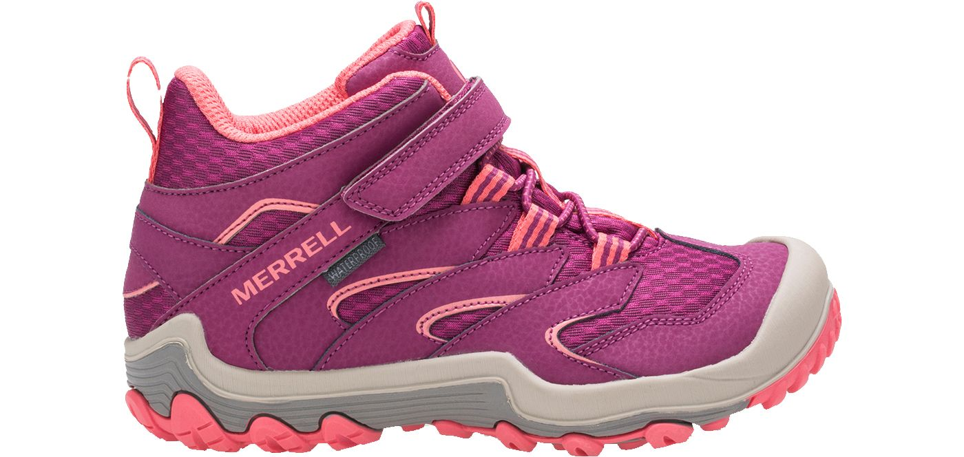 Merrell Kids' Chameleon 7 Access Mid A/C Waterproof Hiking Boots