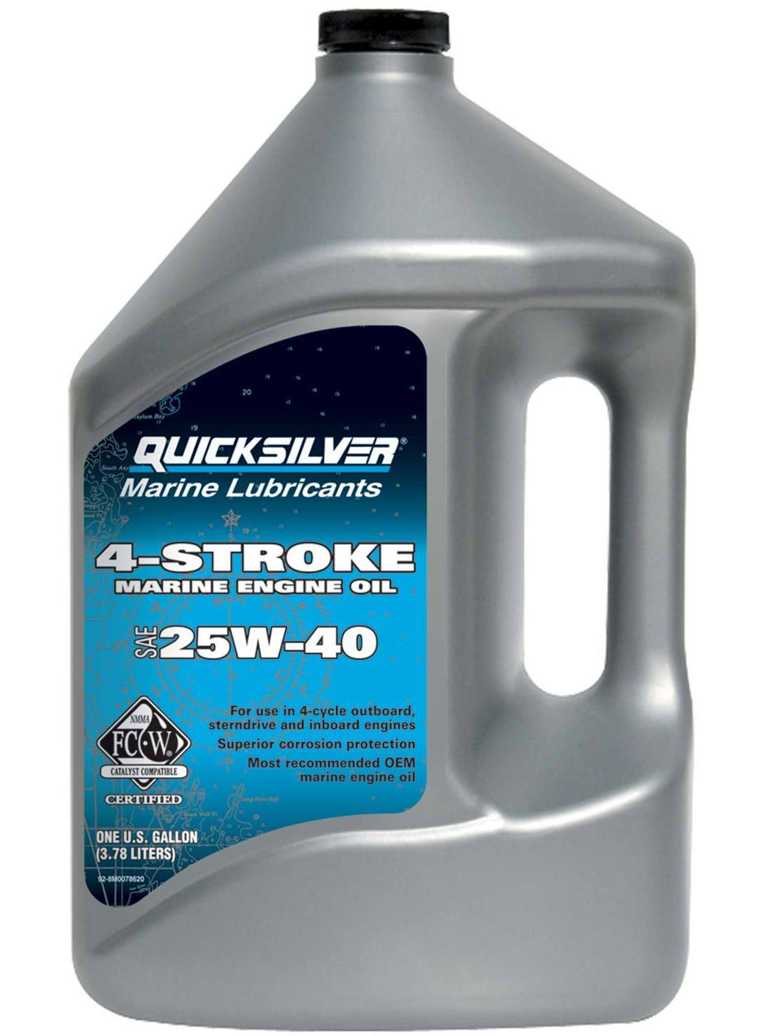 Mercury Quicksilver 4-Cycle 25W-40 Engine Oil – Gallon