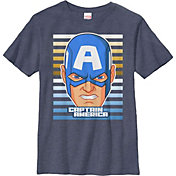 Fifth Sun Boys' Marvel Capn Big Face Graphic T-Shirt