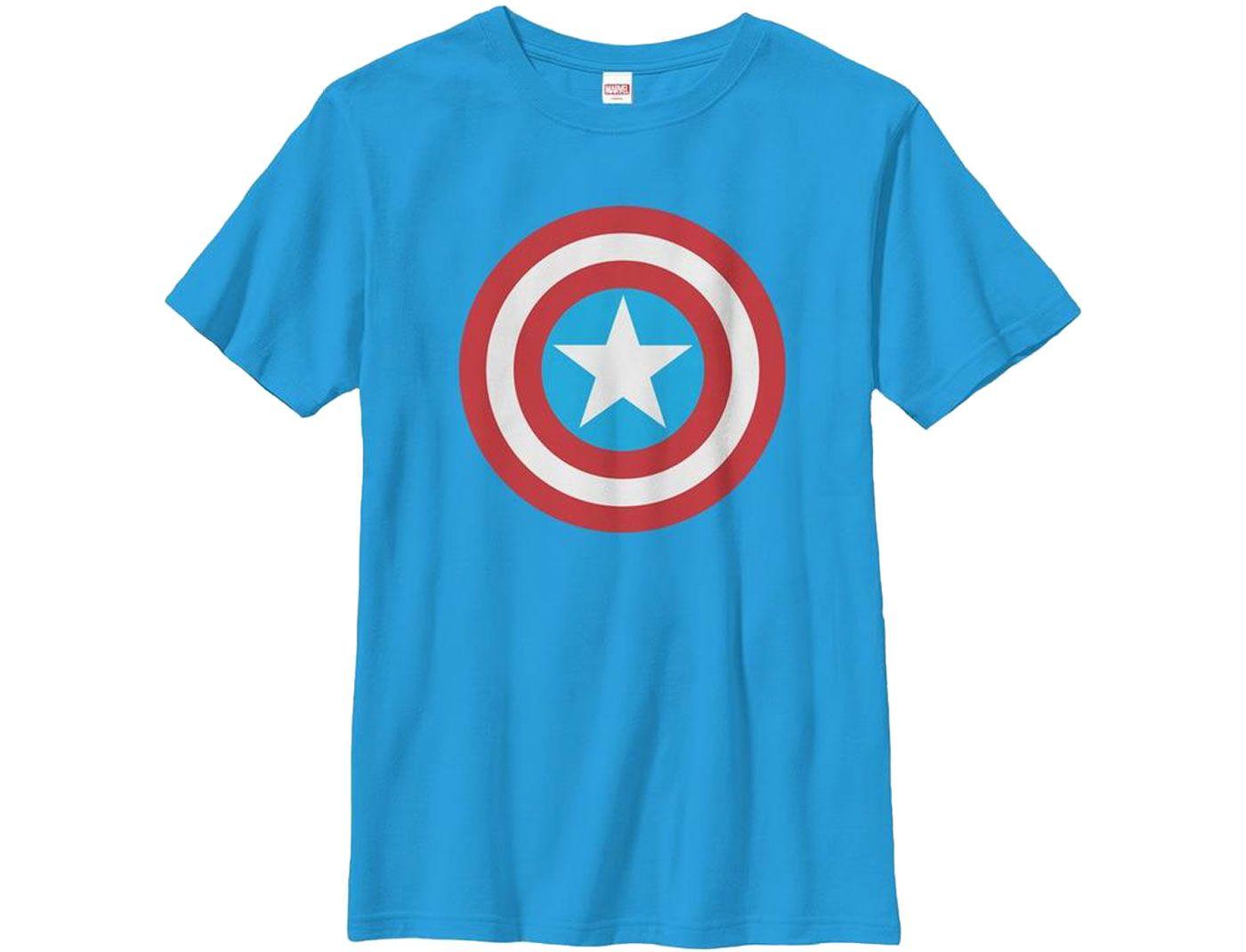 Fifth Sun Boys' Marvel Capn Shield Graphic T-Shirt
