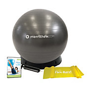 Merrithew 75 cm Stability Ball w/ Base Bundle