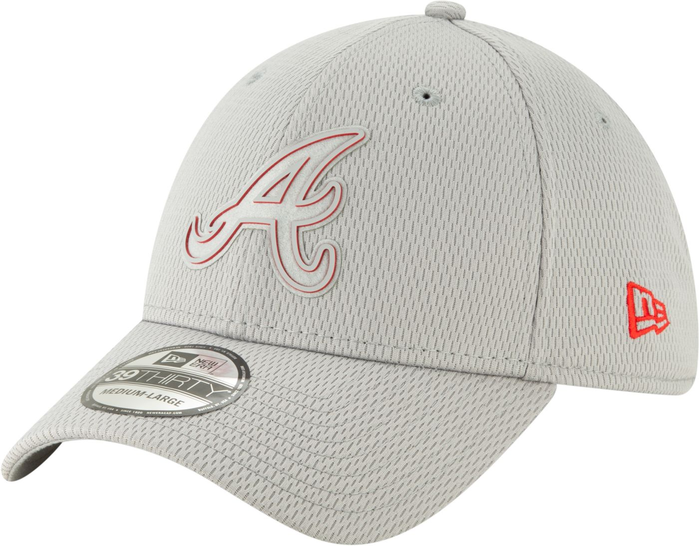 New Era Men's Atlanta Braves 39Thirty Clubhouse Grey Stretch Fit Hat