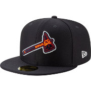New Era Men's Atlanta Braves 59Fifty HexTech Batting Practice Fitted Hat