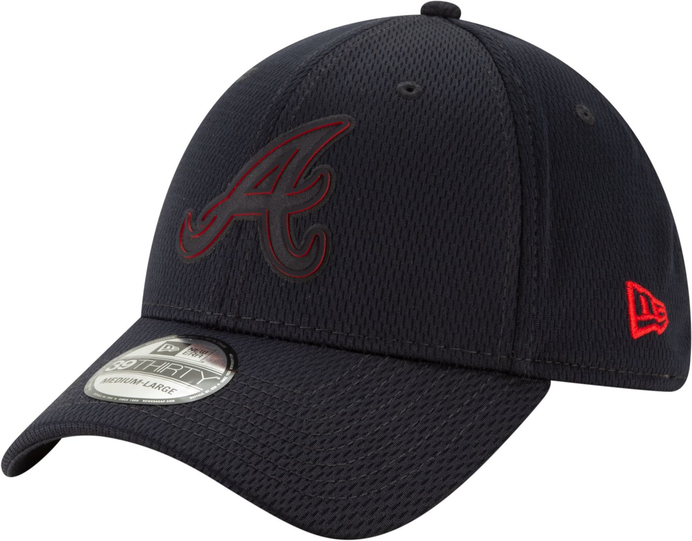 New Era Men's Atlanta Braves 39Thirty Clubhouse Navy Stretch Fit Hat