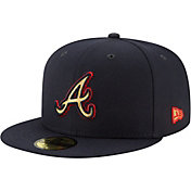 New Era Men's Atlanta Braves 59Fifty Logo Stopper Fitted Hat