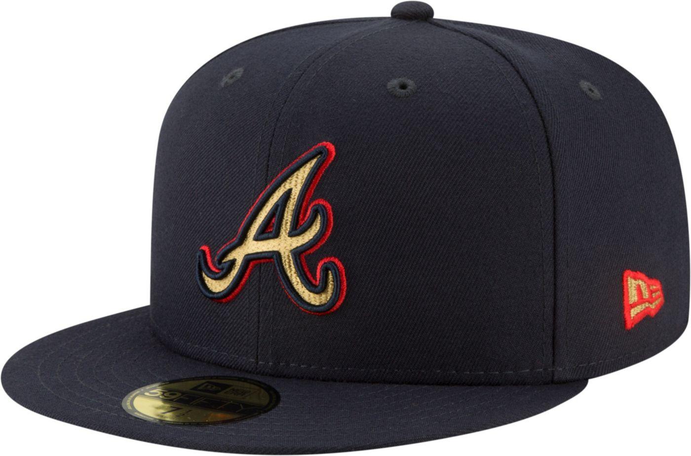 New Era Men's Atlanta Braves 59Fifty Logo Stopper Fitted Hat