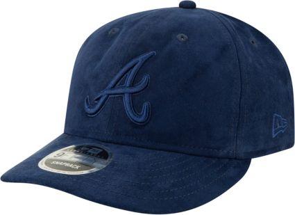 76165c445ea ... Atlanta Braves 9Fifty Suede Retro Navy Adjustable Snapback Hat.  noImageFound