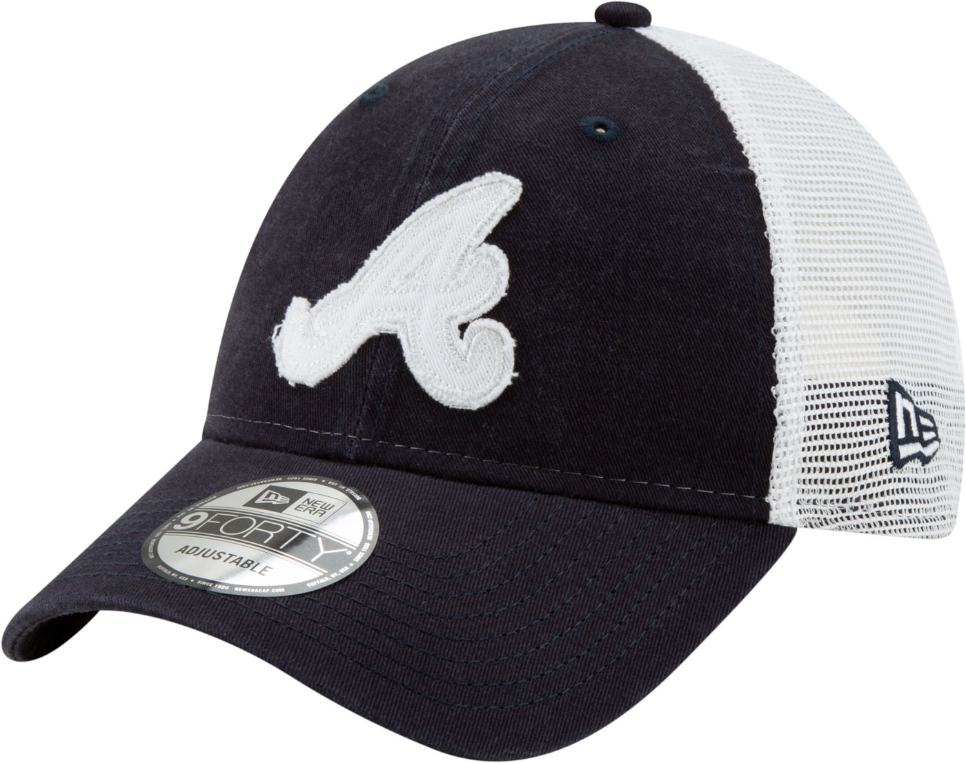 New Era Men's Atlanta Braves 9Forty Team Trucker Adjustable Hat