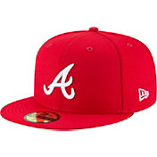 New Era Men's Atlanta Braves 59Fifty Basic Red Fitted Hat