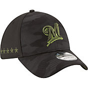 New Era Men's Milwaukee Brewers 39Thirty 2018 Memorial Day Stretch Fit Hat