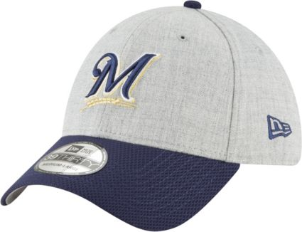 check out dd2bd b6063 New Era Men s Milwaukee Brewers 39Thirty Change Up Redux Stretch Fit Hat