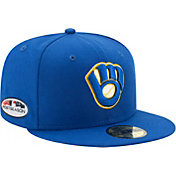 New Era Men's Milwaukee Brewers 59Fifty 2018 MLB Postseason Authentic Hat