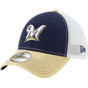 New Era Men's Milwaukee Brewers 39Thirty Practice Piece Stretch Fit Hat