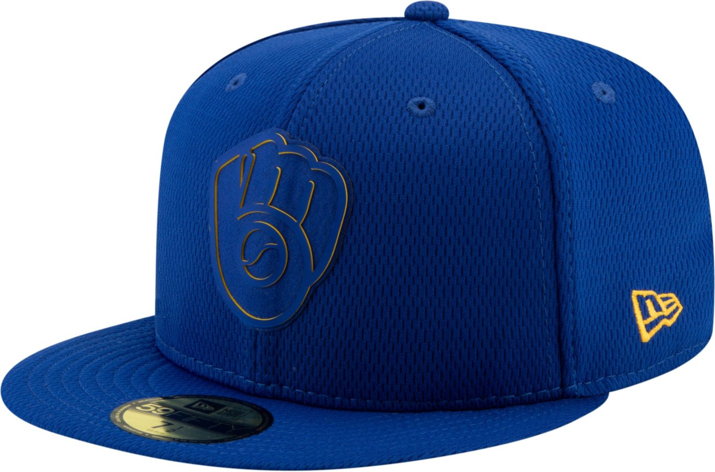 New Era Men's Milwaukee Brewers 59Fifty Clubhouse Royal Fitted Hat