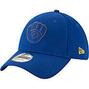 New Era Men's Milwaukee Brewers 39Thirty Clubhouse Royal Stretch Fit Hat