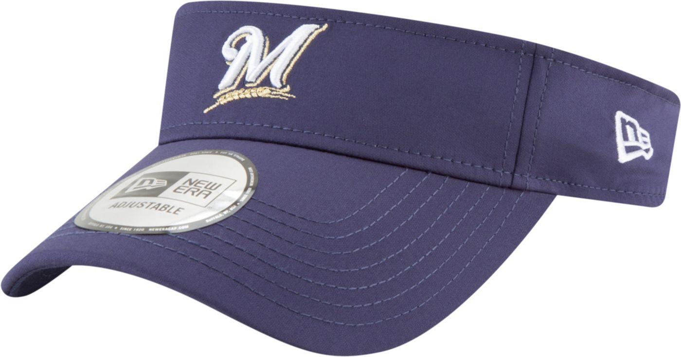 New Era Men's Milwaukee Brewers Clubhouse Adjustable Visor