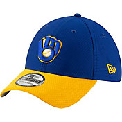 New Era Men's Milwaukee Brewers 39Thirty HexTech Batting Practice Stretch Fit Hat