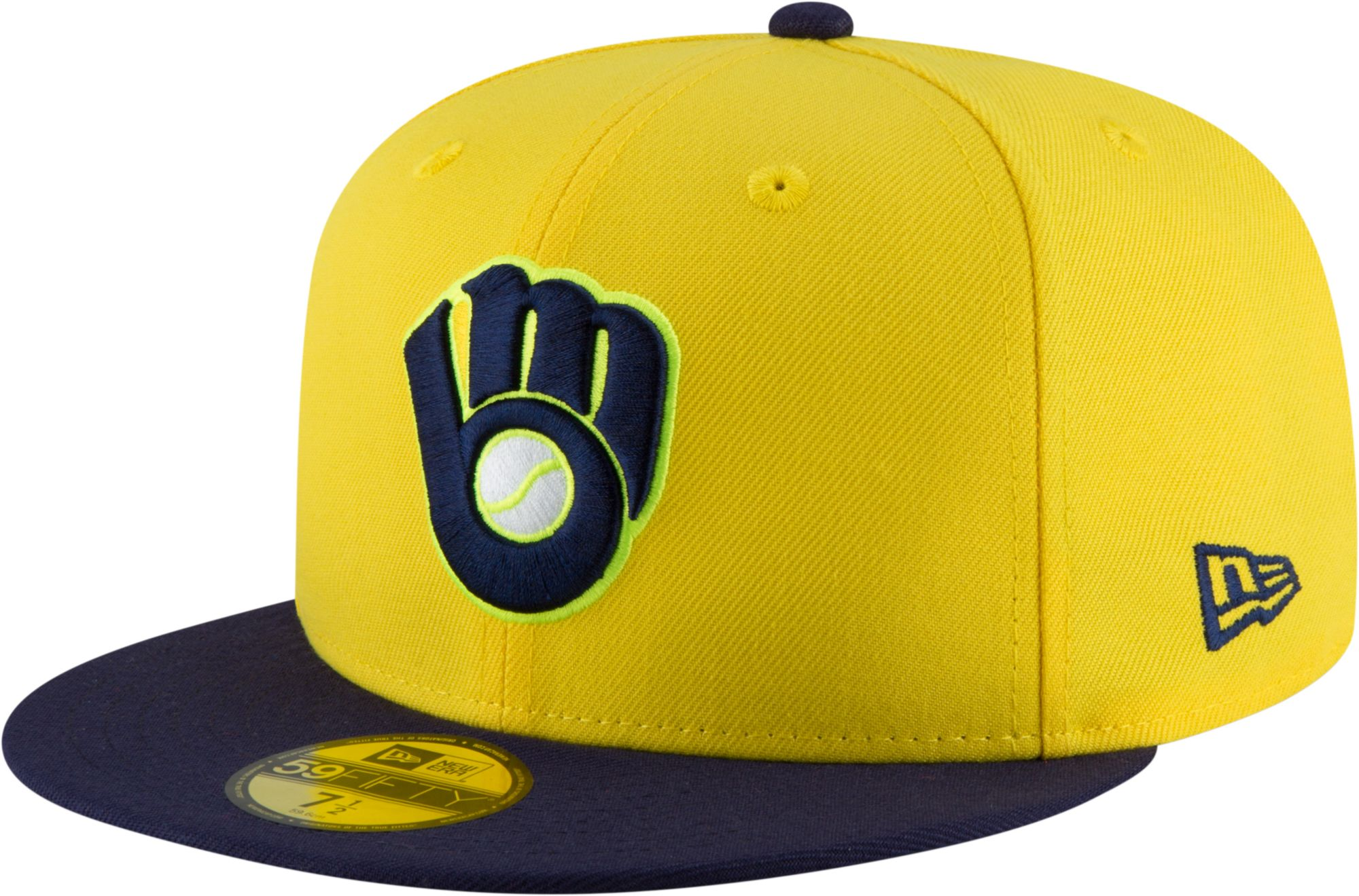 979cfa255535c ... get new era mens milwaukee brewers 59fifty mlb players weekend  authentic hat 9be9d 3771a