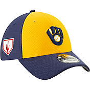 New Era Men's Milwaukee Brewers 39Thirty HexTech 2019 Spring Training Stretch Fit Hat