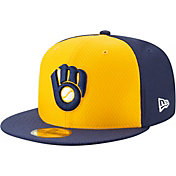 New Era Men's Milwaukee Brewers 59Fifty HexTech Batting Practice Fitted Hat