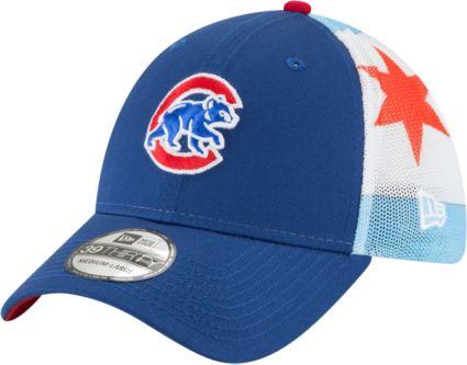 New Era Men s Chicago Cubs 39Thirty Flag Mesh Stretch Fit Hat. noImageFound 53926261c88
