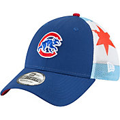 New Era Men's Chicago Cubs 39Thirty Flag Mesh Stretch Fit Hat