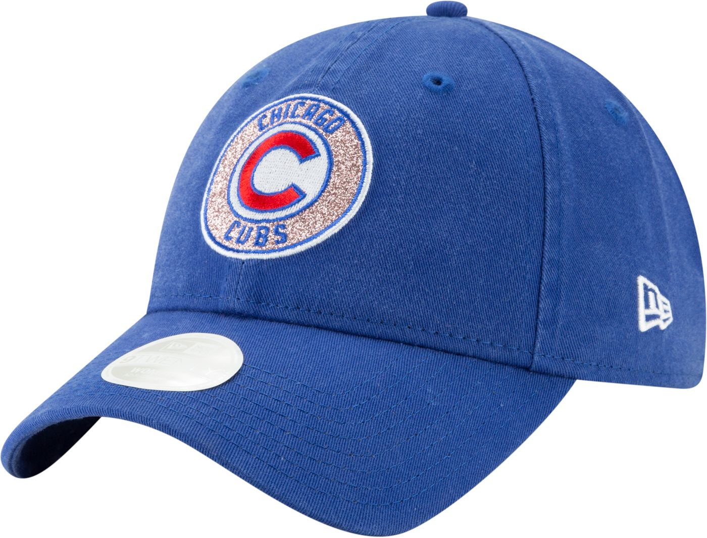 New Era Women's Chicago Cubs 9Twenty Patched Sparkle Adjustable Hat