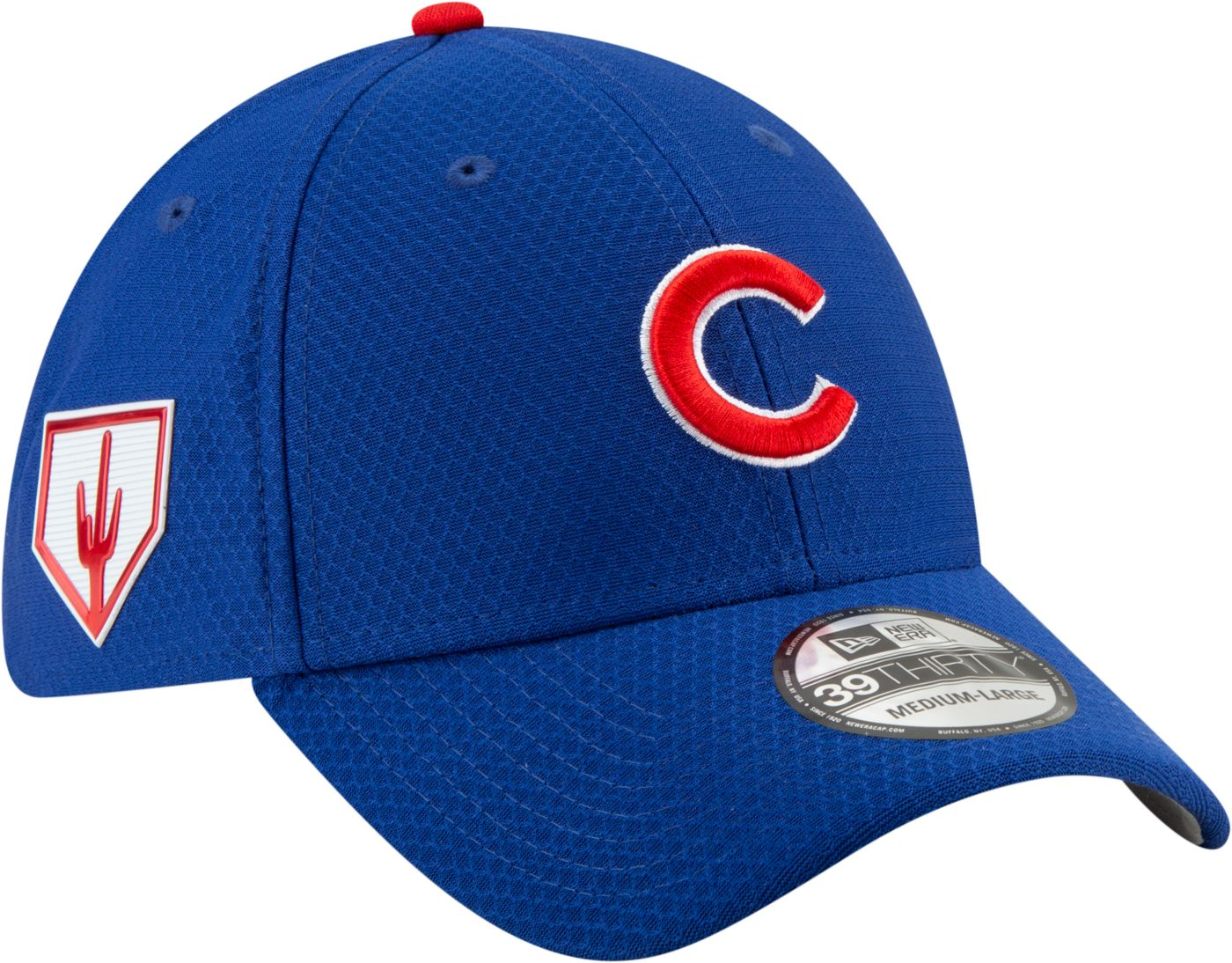 New Era Men's Chicago Cubs 39Thirty HexTech 2019 Spring Training Stretch Fit Hat