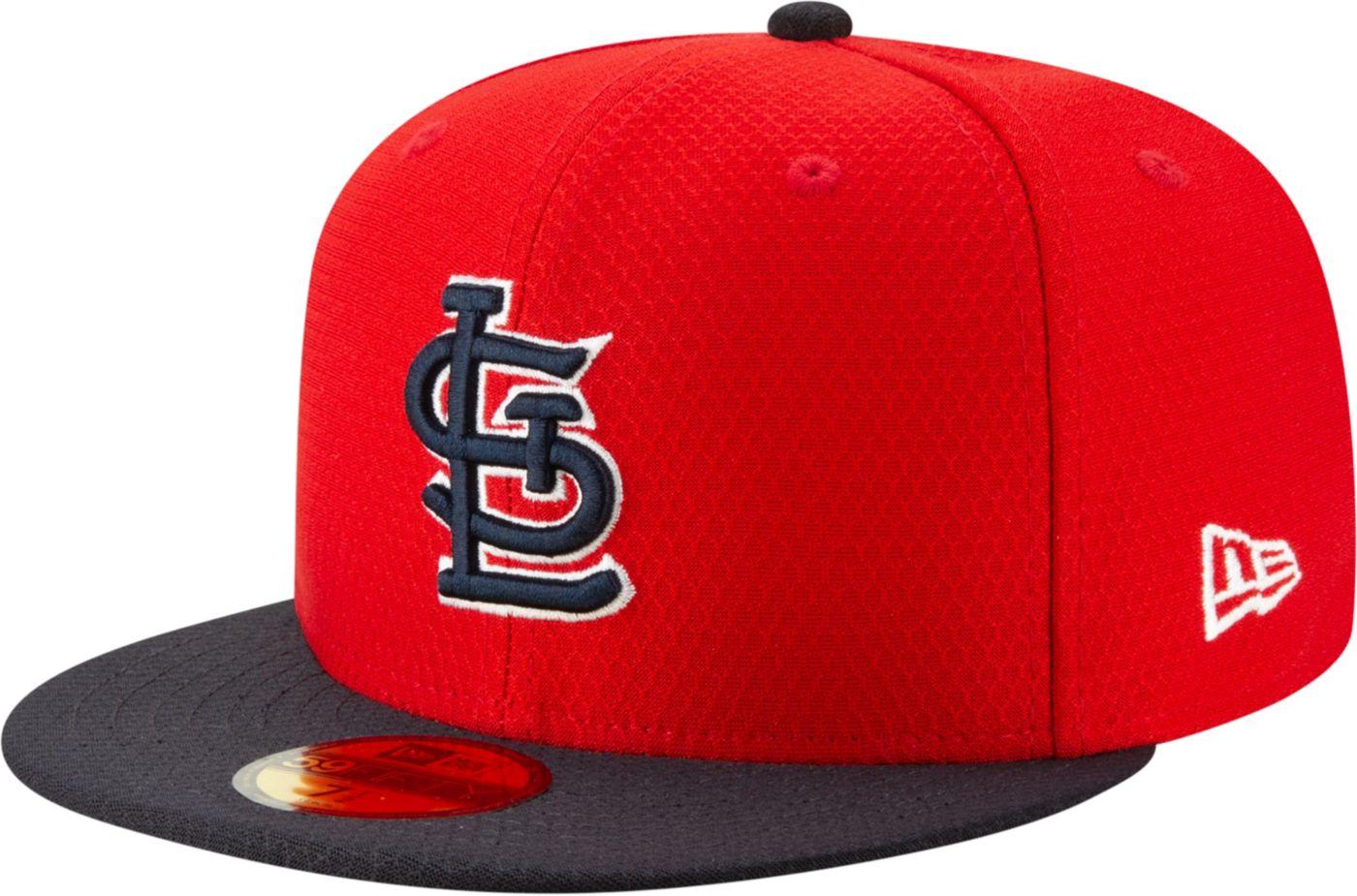 New Era Men's St. Louis Cardinals 59Fifty HexTech Batting Practice Fitted Hat