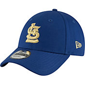 New Era Men's St. Louis Cardinals 9Forty City Pride Royal/Gold Adjustable Hat