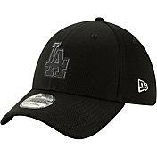 New Era Men's Los Angeles Dodgers 39Thirty Clubhouse Black Stretch Fit Hat