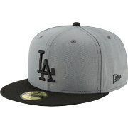 New Era Men's Los Angeles Dodgers 59Fifty Basic Grey Fitted Hat