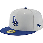 New Era Men's Los Angeles Dodgers 59Fifty Grey/Royal Fitted Hat