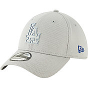 New Era Men's Los Angeles Dodgers 39Thirty Clubhouse Grey Stretch Fit Hat